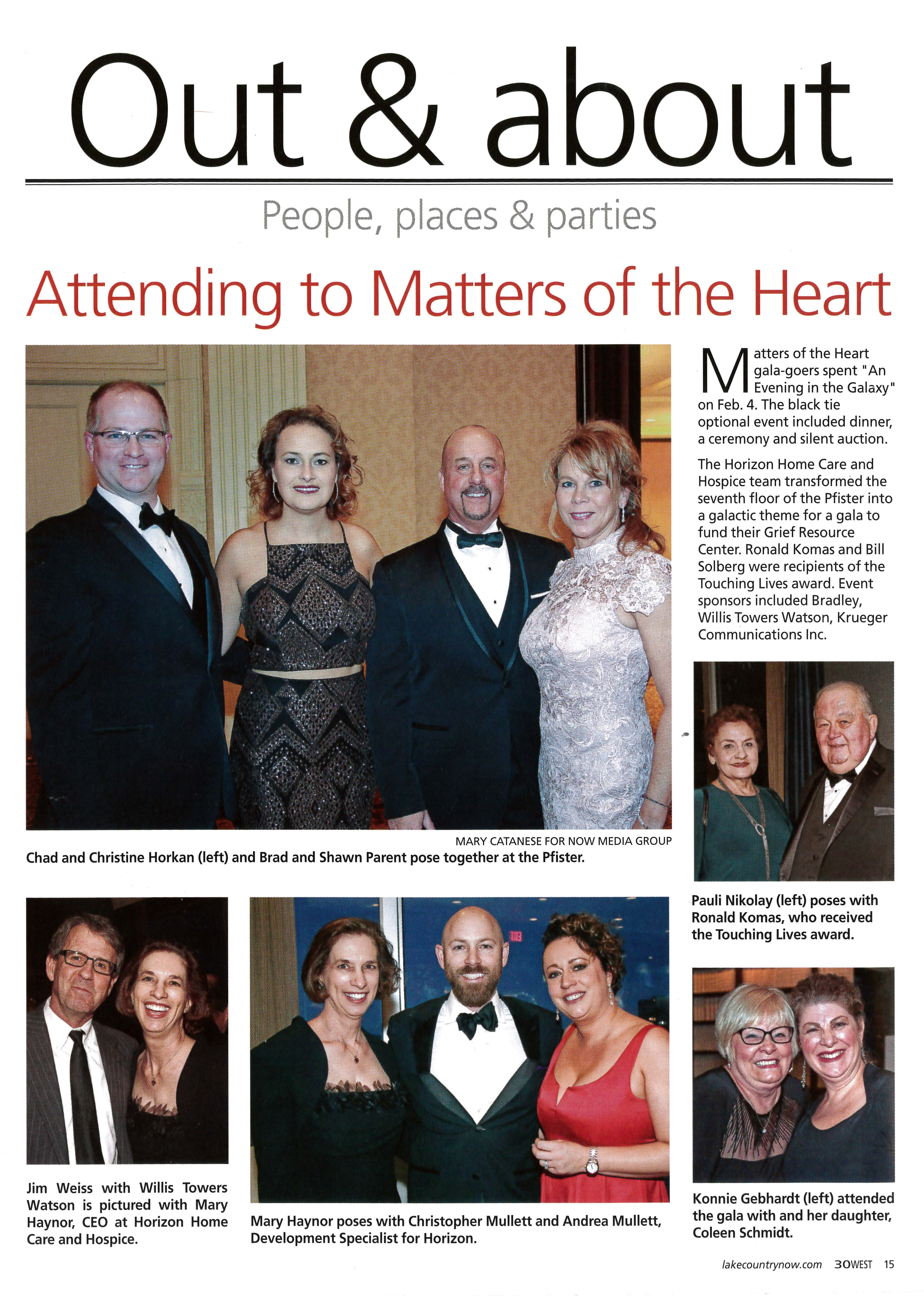 30West Covers Horizon's Matters of the Heart Gala
