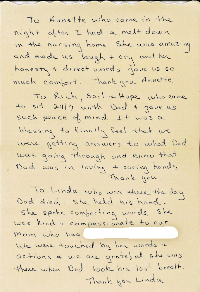 Read beautiful thank you note written by daughter of horizon read beautiful thank you note written by daughter of horizon hospice patient expocarfo