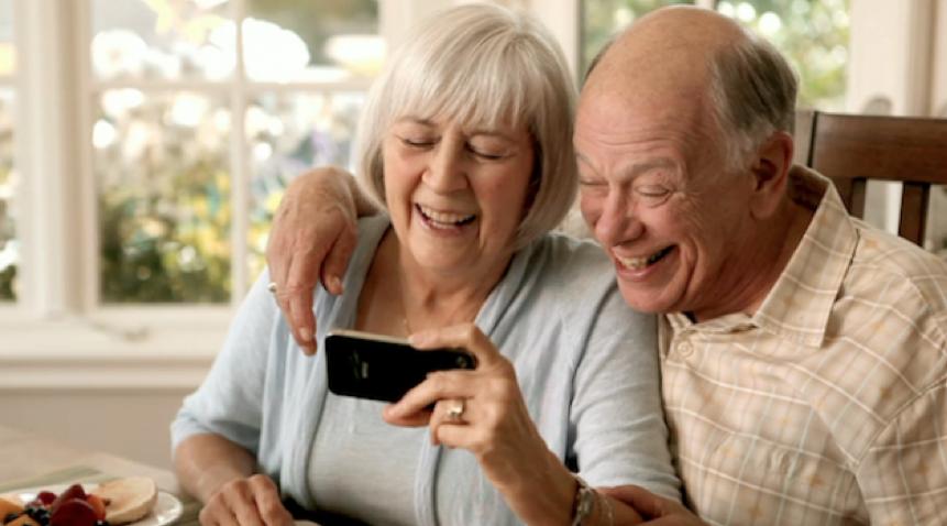 grandchildren grandparents using technology to stay close